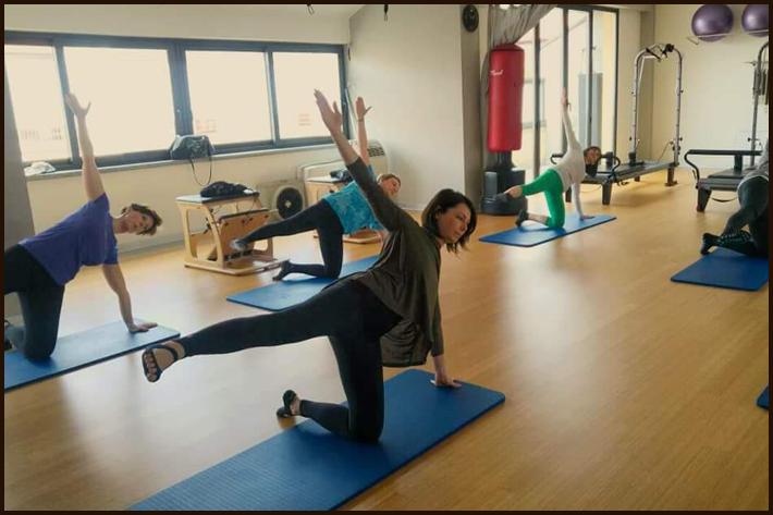 Foto lezione di Pilates